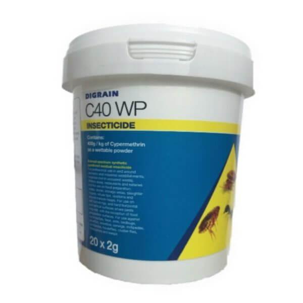 C40 WP digrain sachets cypermethrin